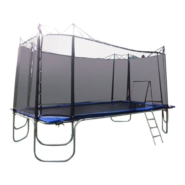 Texas Trampoline Heavy Duty Trampoline 10 x 17 ft Texas Star w/ Enclosure - Rectangle Trampolines