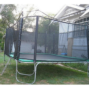 Texas Trampoline Heavy Duty Square Trampoline 15 x 15 ft Texas Giant w/ Enclosure - Square Trampolines