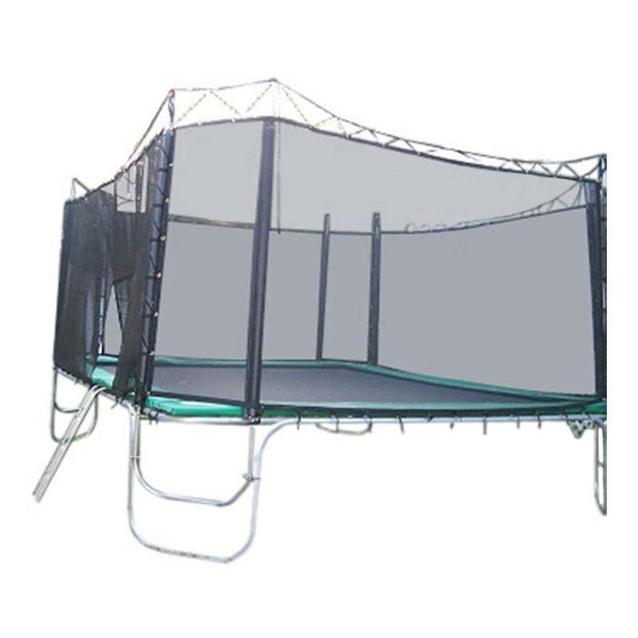 Texas Trampoline Heavy Duty Square Trampoline 15 x 15 ft Texas Giant w/ Enclosure - green - Square Trampolines