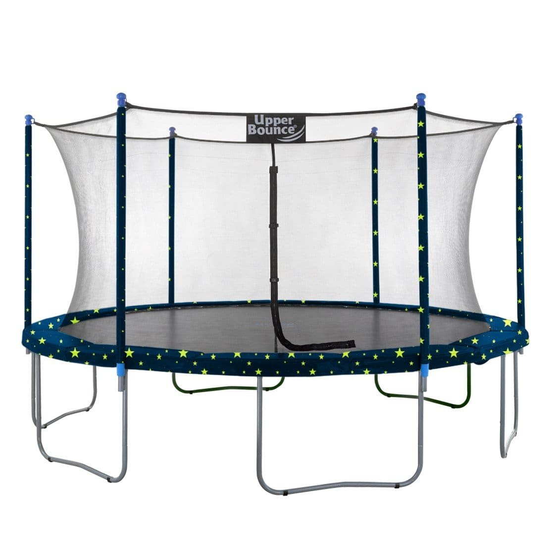 Upper Bounce 16 FT Round Trampoline Set with Safety Enclosure System - Starry Night