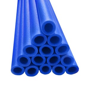 Upper Bounce 33 Inch Trampoline Pole Foam Sleeves Fits For 1 Diameter Pole - Set Of 16 -Blue - Trampoline Replacements