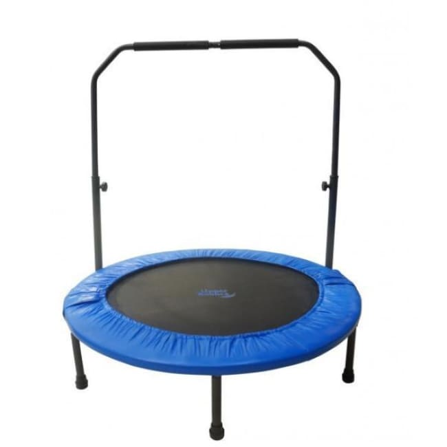 Upper Bounce 40 Mini Foldable Rebounder Fitness Trampoline with Adjustable Handrail - UBSF01HR-40 - Fitness Trampoline