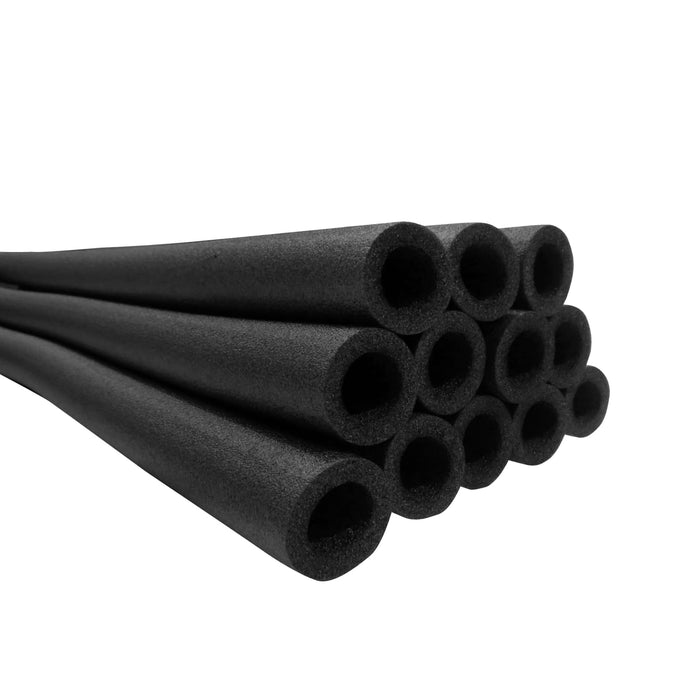 Upper Bounce 44 Inch Trampoline Pole Foam Sleeves Fits For 1.5 Diameter Pole - Set Of 12 -Black - Trampoline Replacements