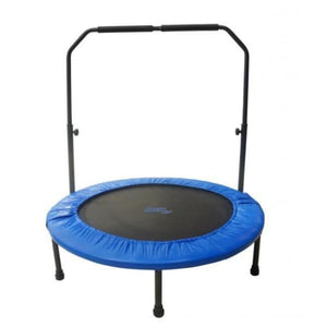 Upper Bounce 48 Mini Foldable Rebounder Fitness Trampoline with Adjustable Handrail - UBSF01-48 - Fitness Trampoline