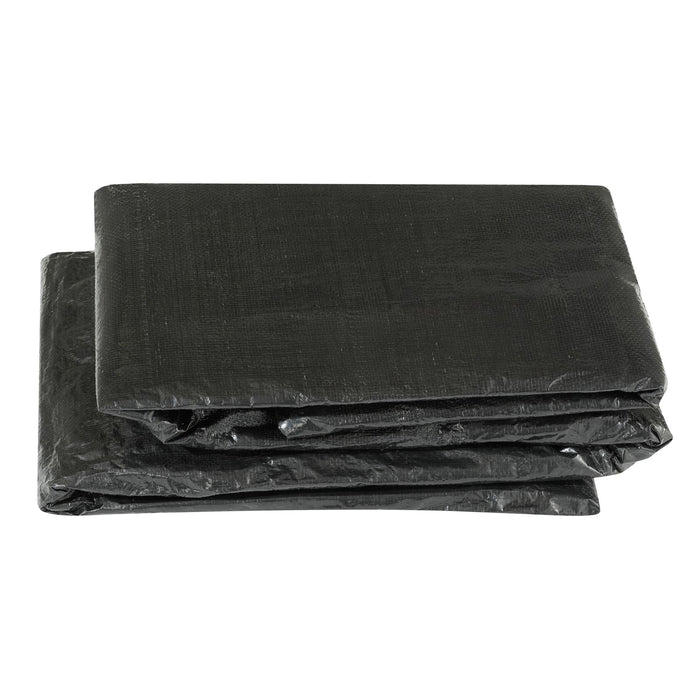 Upper Bounce Economy Trampoline Weather Protection Cover Fits For 17 X 17 Ft. Square Frames - Black - Trampoline Accessories