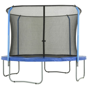 Upper Bounce Trampoline Enclosure Set W/ Top Ring Enclosure System To Fit 12 Ft. Round Frames For 2 Or 4 W-Shaped Legs - Trampoline