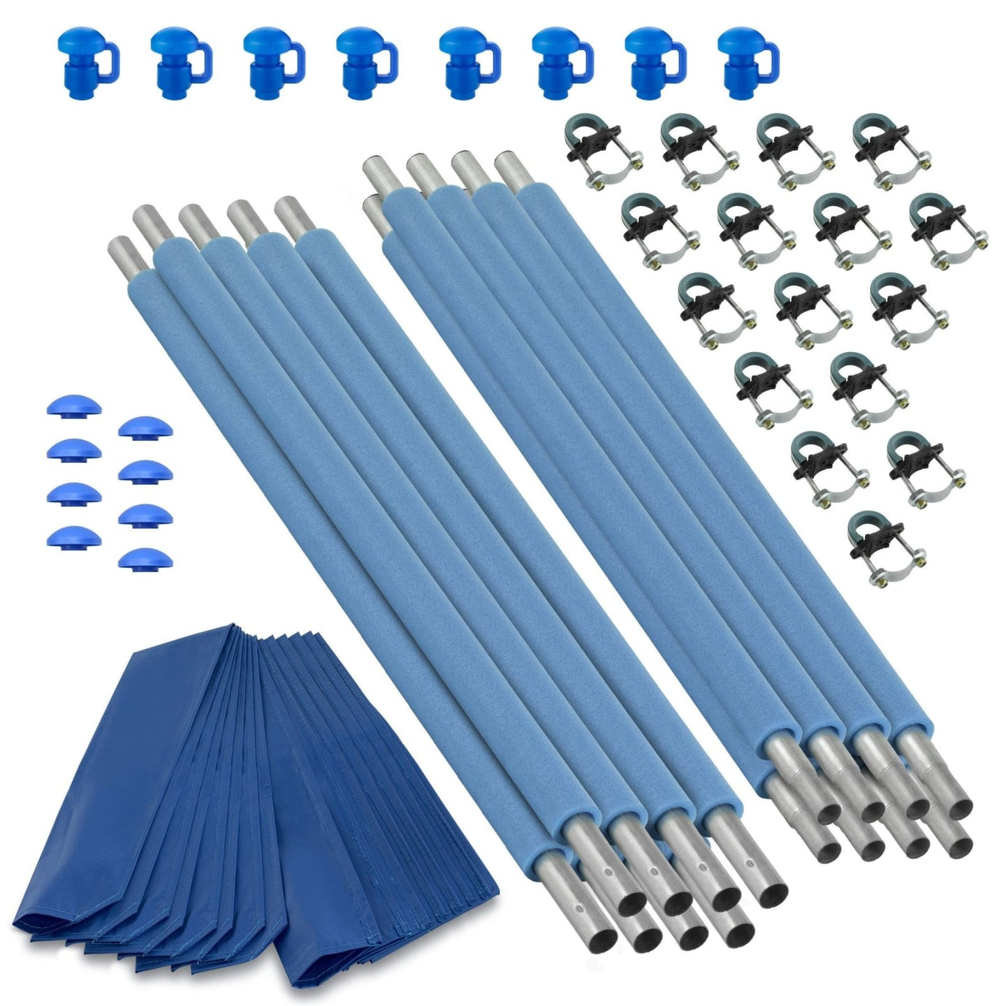 Upper Bounce Trampoline Replacement Enclosure Poles & Hardware Set Of 8 (Net Sold Separately) - Trampoline Replacements