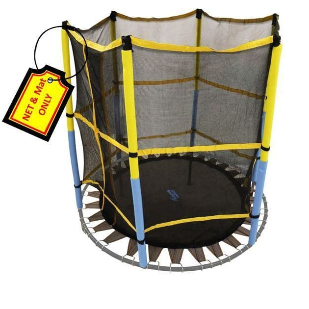 Upper Bounce Trampoline Replacement Jumping Band Mat W/ Attached Safety Net For 55 Round Frame - Trampoline Replacements