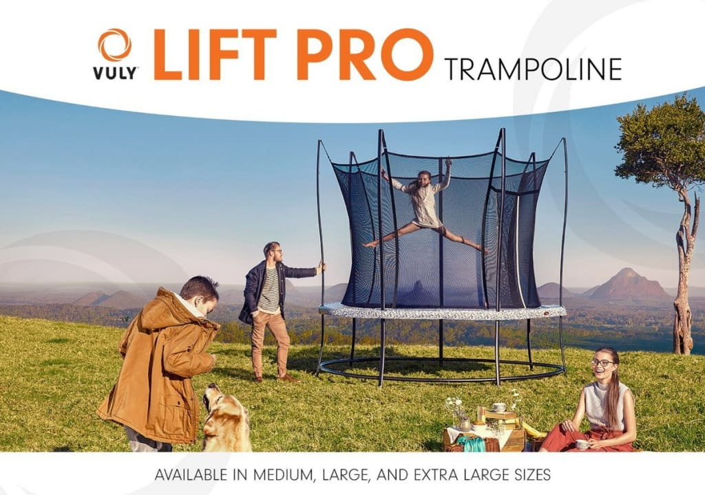 Round Trampoline Lift Pro LARGE 12ft by Vuly - BV1220
