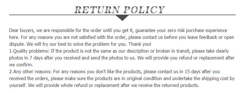 Stylrplus return policy