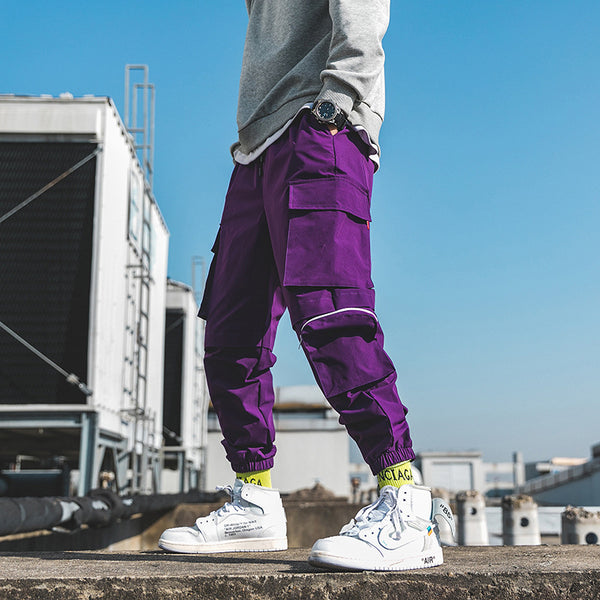 2020 Pure color pocket pants