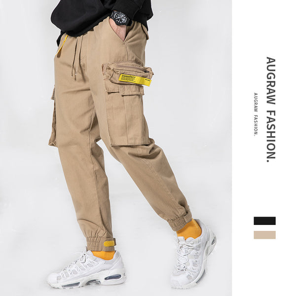 AUGRAW 2019 Pure color pants