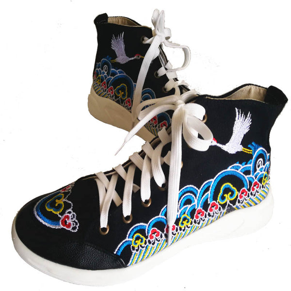 Embroidery Chinese-style sneakers
