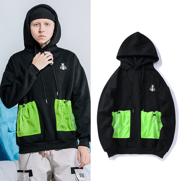 Nelly Chic green Pocket hoodies