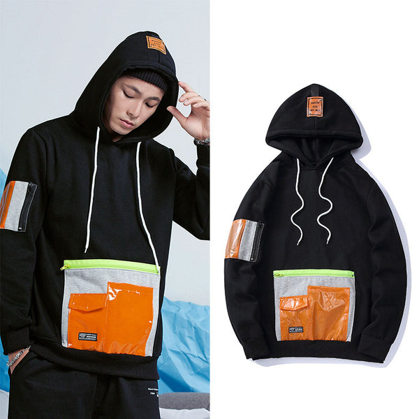 Nelly Orange Pocket hoodies