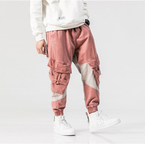 N3 pink and gray cargo pants