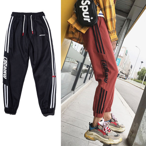 HOMME stripes jogger pants