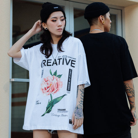 Printed CREATIVE FLOWER T-Shirt