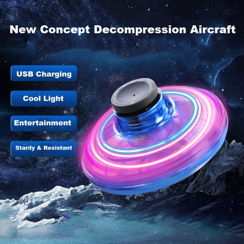 Flynova Free Route Swing Creative DEcompression Aircraft Led Lights UFO Child Toy