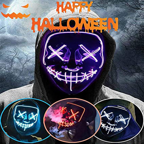 Two Pieces of Halloween Led Light Up Mask