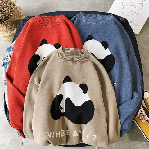 HOMME Cute Panda sweater