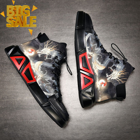 Deals| Original Brave Dragon Cow Leather Sneakers