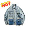 N3 Hot big pocket denim jacket