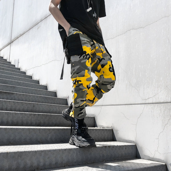 Hip-hop camo cargo pants