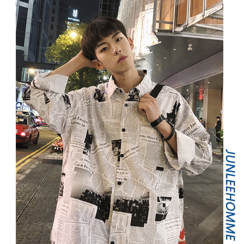 Homme Newspaper shirt
