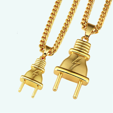 NYUK Plug Pendant Necklace