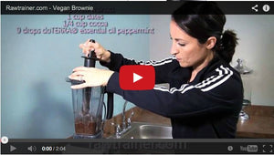 Vegan Peppermint Brownies Video Tutorial