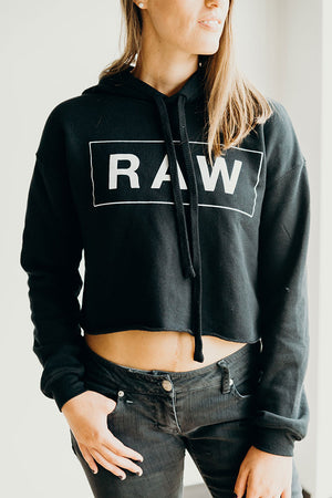 Raw Trainer Crop Hoodie - Raw Trainer
