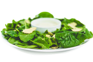 "Mean Green Caesar Salad with ""Parm"" - Raw Trainer"