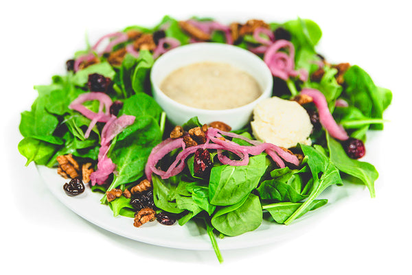 """Poppy"" Seed Spinach Salad - Raw Trainer"