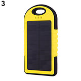 2500 mAh Dual USB Portable Solar Charger Battery Universal Rain-resistant Power Bank