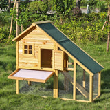 Stylish Wooden Chicken Coop - Also good for rabbits and ferrets