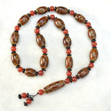 Tibetan Dzi Beads Mala Necklace