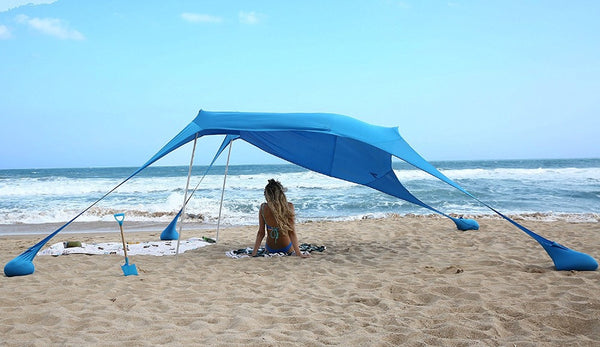 Portable Beach Shade Canopy - Easy Set up - Sun protection - No stakes