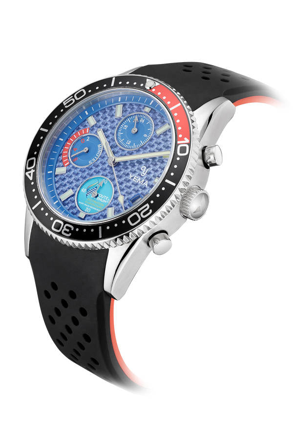 Yema Yachtingraf Regate Blue Red Quartz