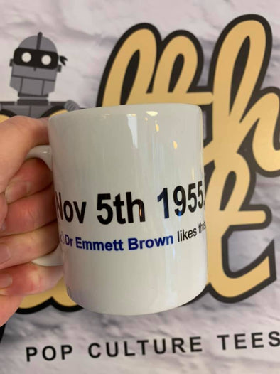 Back To The Future Mug - Dr Emmett Brown Likes This | stealthy Giant