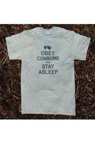 They Live Movie T-Shirt | Obey Consume & Stay Asleep