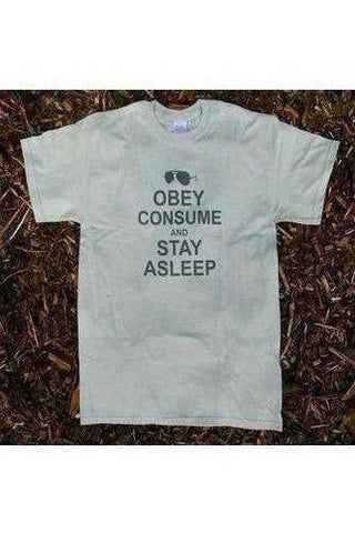 They Live T-Shirt - Obey Consume & Stay Asleep | Stealthy Giant - Stealthy Giant