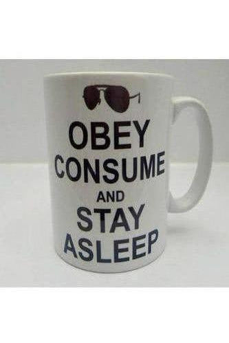 They Live Mug - Obey Consume & Stay Asleep.