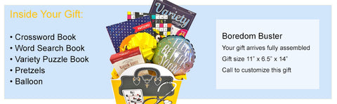 Boredom Buster Get Well Gift Box with Puzzle Books for Men and for Women