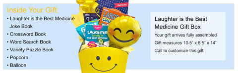 Laughter is the Best Medicine Get Well Gift Basket for Men and for Women