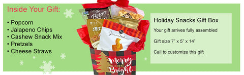 Holiday Gift Box with Savory Snack Favorites for Christamas Gift Giving to Men Women Friends Family