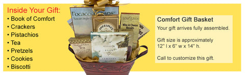 get well gift basket with little book of comfort