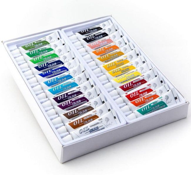 Daveliou™ Oil Paints Set – 12ml (0.41 fl oz) X 24 Paint Tubes
