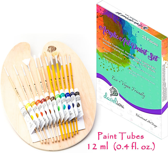 Daveliou™art supplies such as Palette Sets are eco-friendly, carefully produced using sustainable materials from sustainably managed sources preventing damage to eco-systems, watersheds, wildlife and trees.