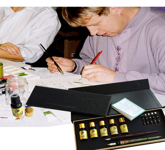 Daveliou calligraphy set which has calligraphy pen and ink set is ideal as a calligraphy starter set